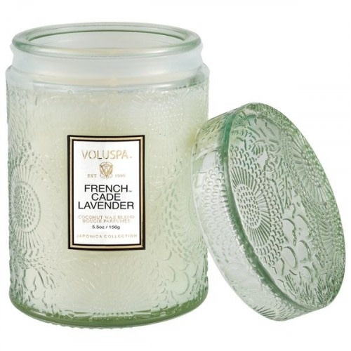 French Cade Lavender 5.5 Glass Jar Candle-1