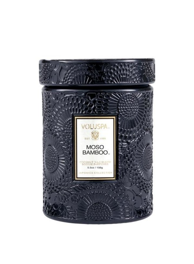 Moso Bamboo 5.5 Glass Jar Candle