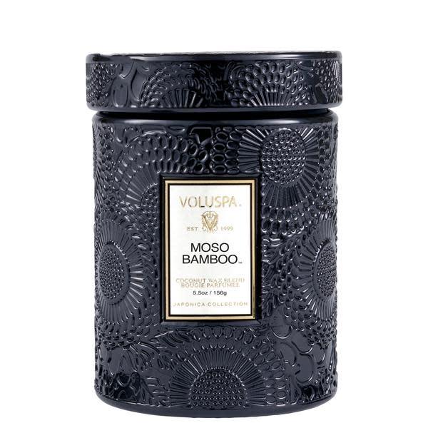 Moso Bamboo 5.5 Glass Jar Candle-1