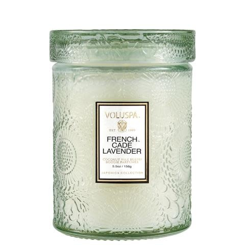 French Cade Lavender 5.5 Glass Jar Candle-2