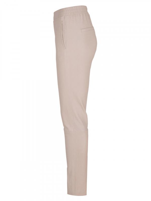 Lebon leather stretch pants Sand-3