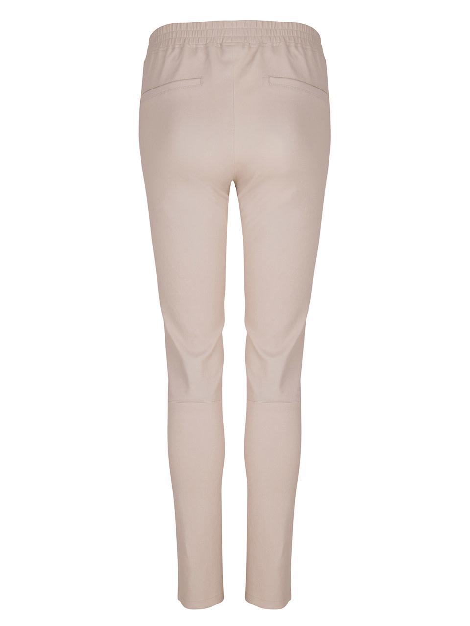 Lebon leather stretch pants Sand-2