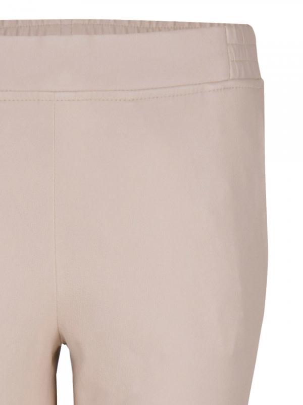 Lebon leather stretch pants Sand-4