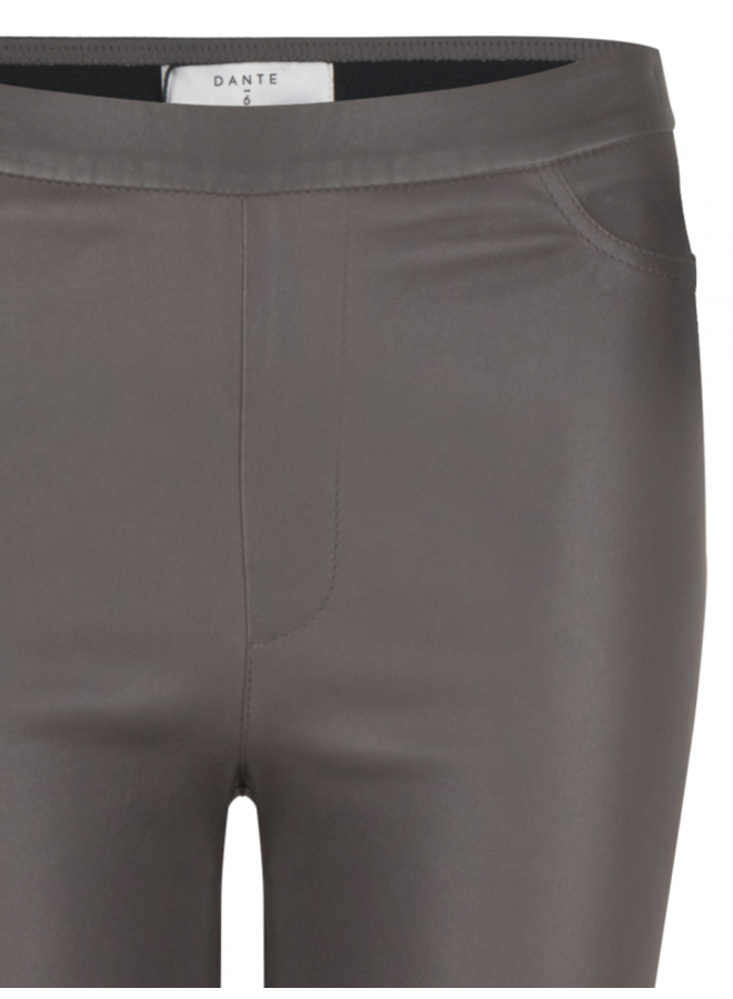 Campbell leather stretch legging Deep Grey