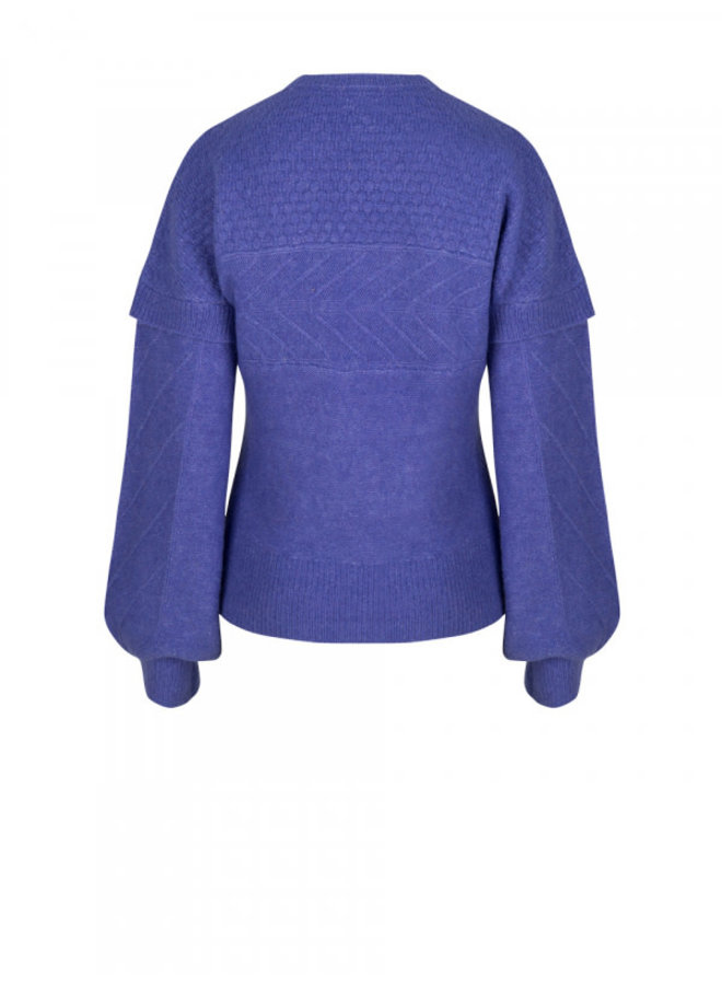 Oakly knit cable sweater Deep Blue