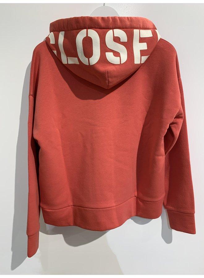 Hoodie Closed  koraal