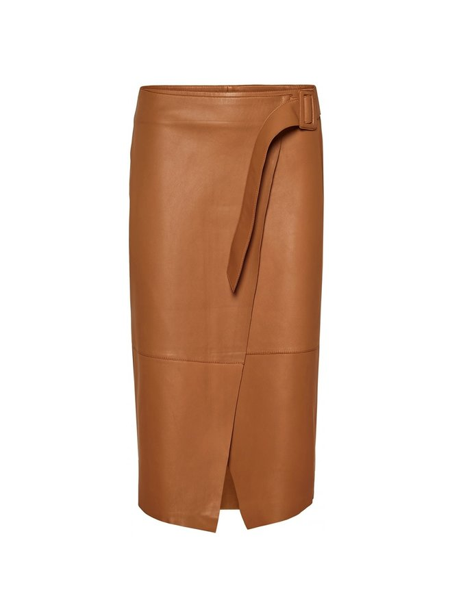 Alba Leather Skirt