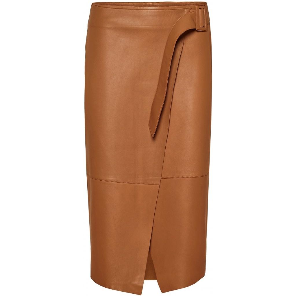 Alba Leather Skirt-1