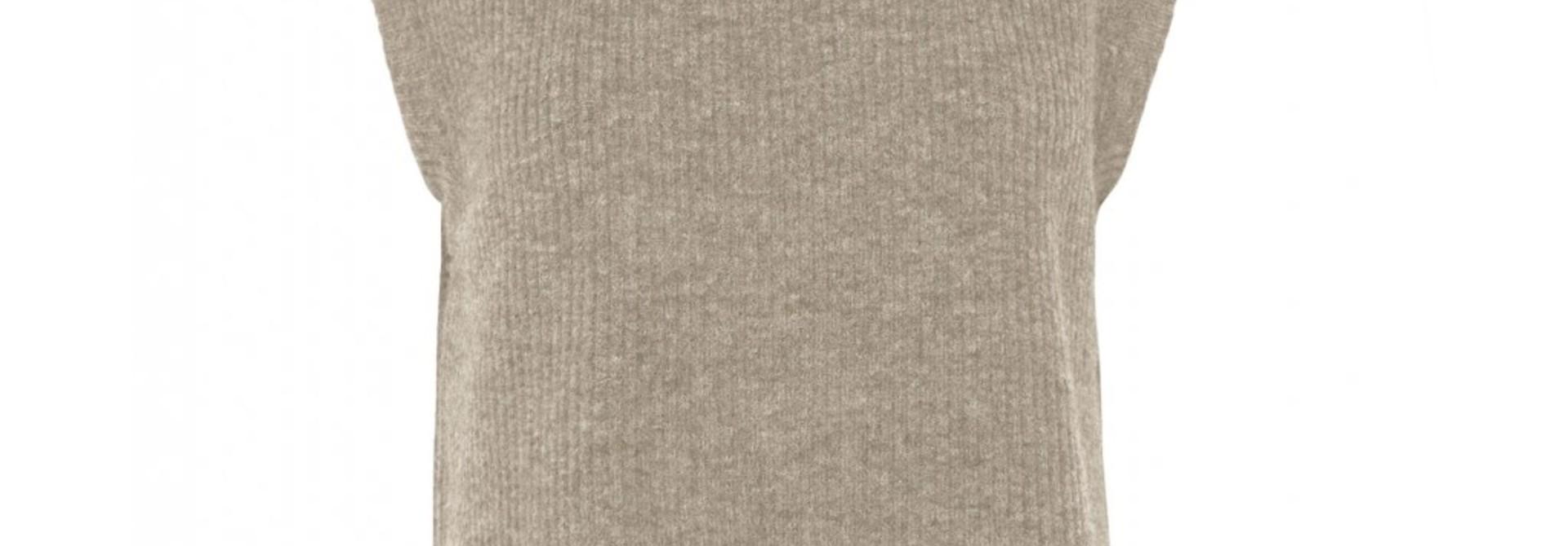 Elisha Knit Waistcoat Oat Melange
