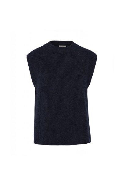Elisha Knit Waistcoat Blue Melange