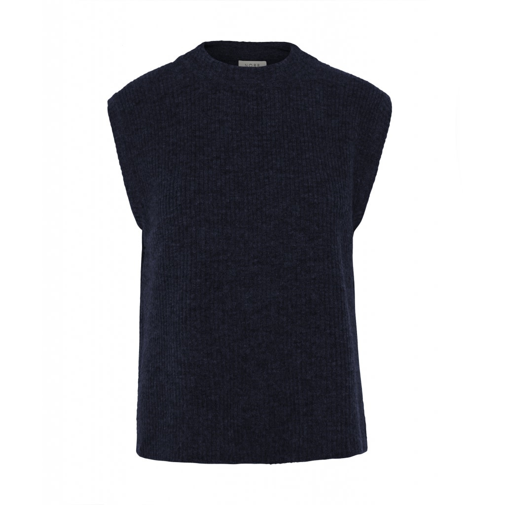 Elisha Knit Waistcoat Blue Melange-1