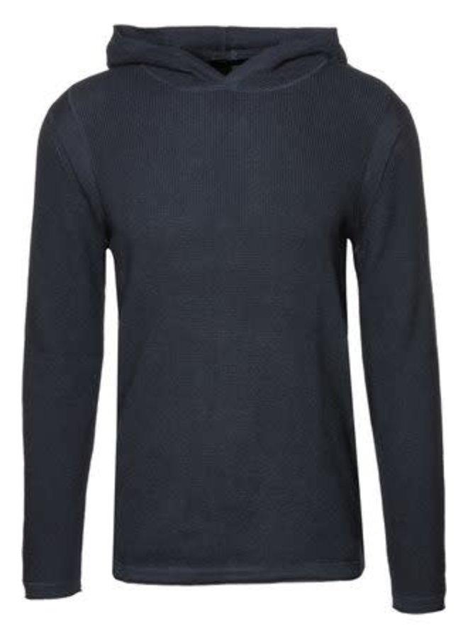 Ramon hooded knit blue