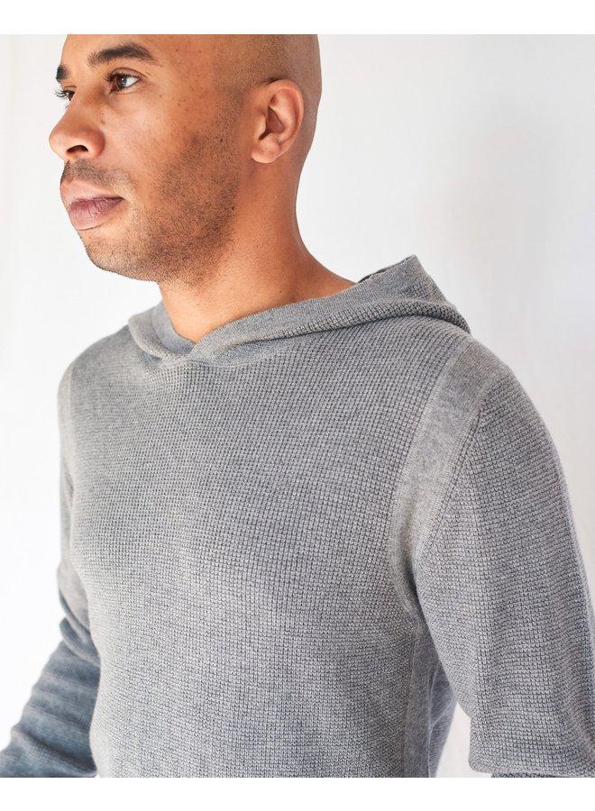 Ramon hooded knit Grey