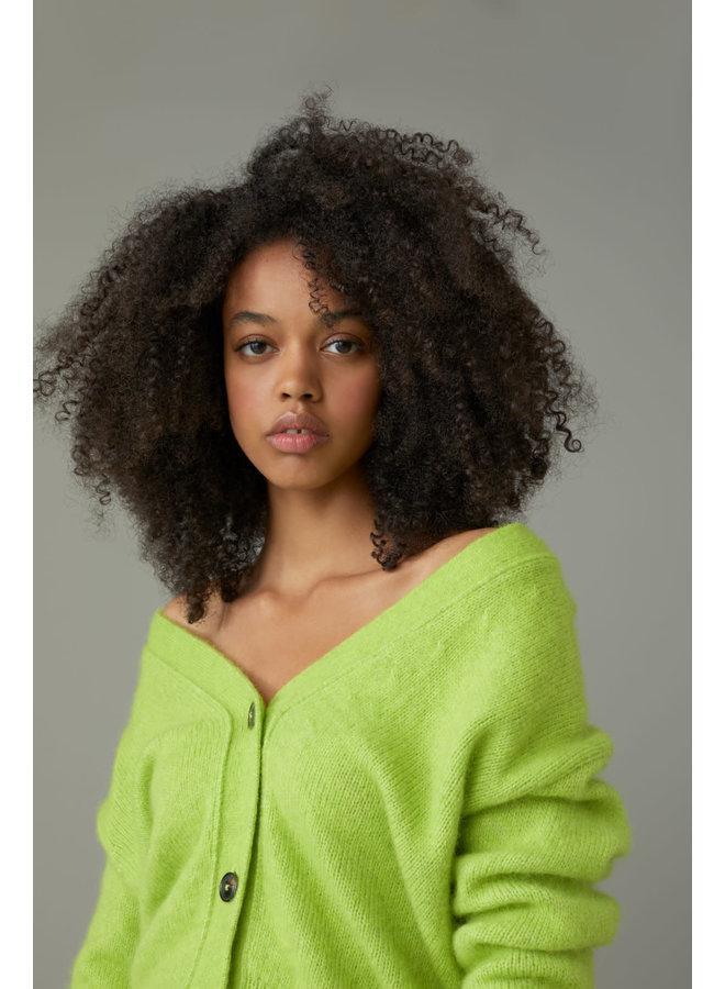 Cardigan knit bitter lemon