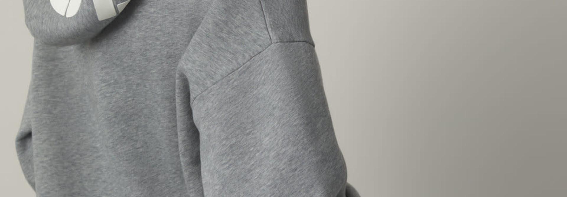 Hoodie Closed Grey