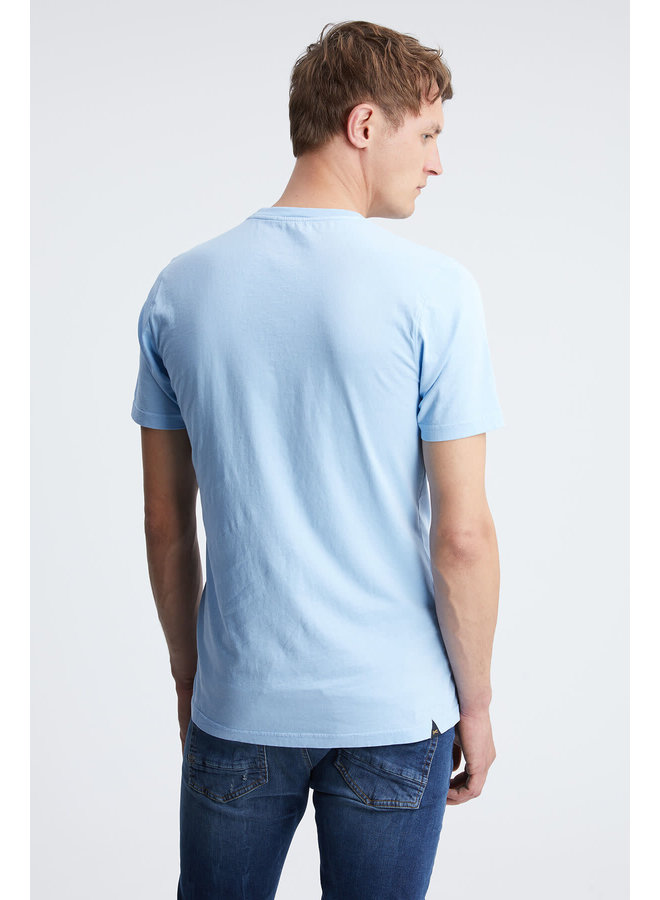 Applique Tee Dusk Blue
