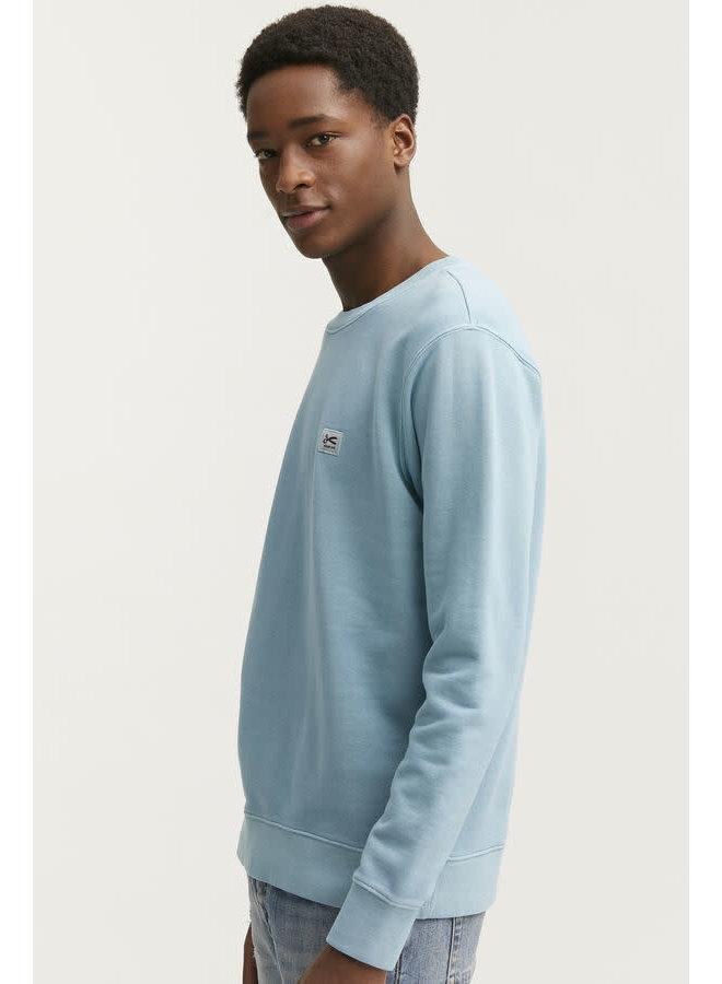 Applique Sweater Dusk Blue