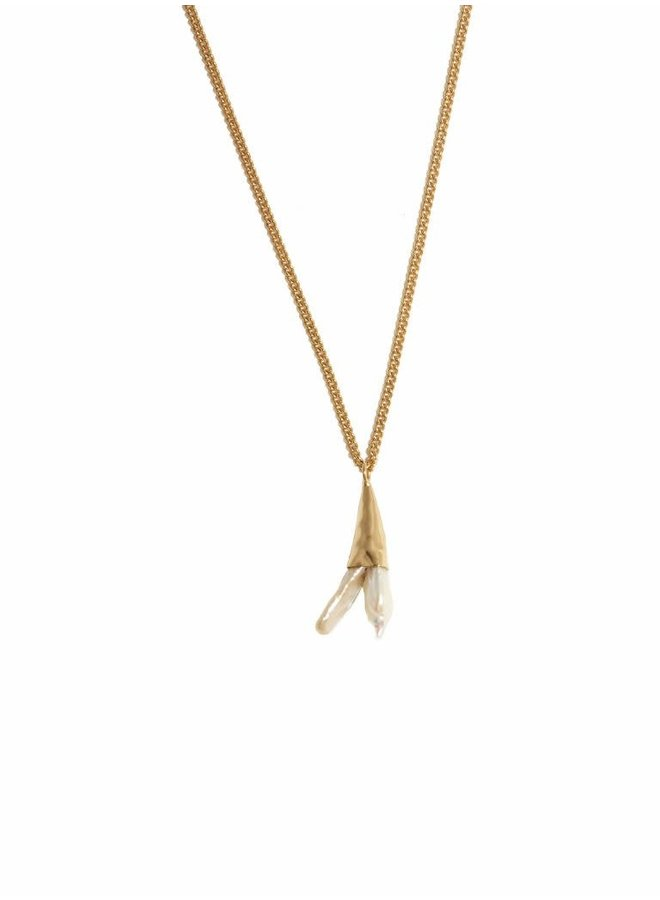Alaine Necklace gold Pearl