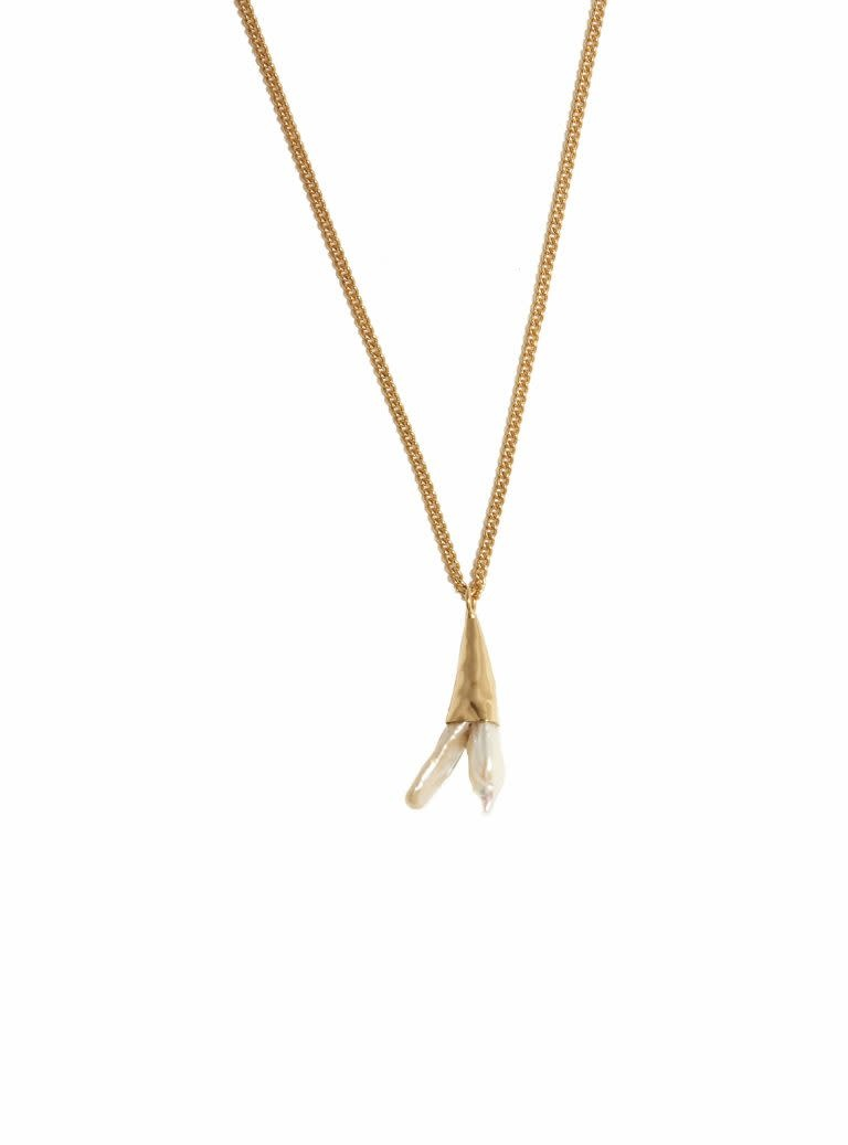 Alaine Necklace gold Pearl-1