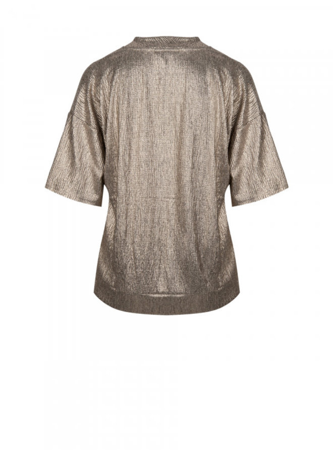 Rae Metallic Jersey top