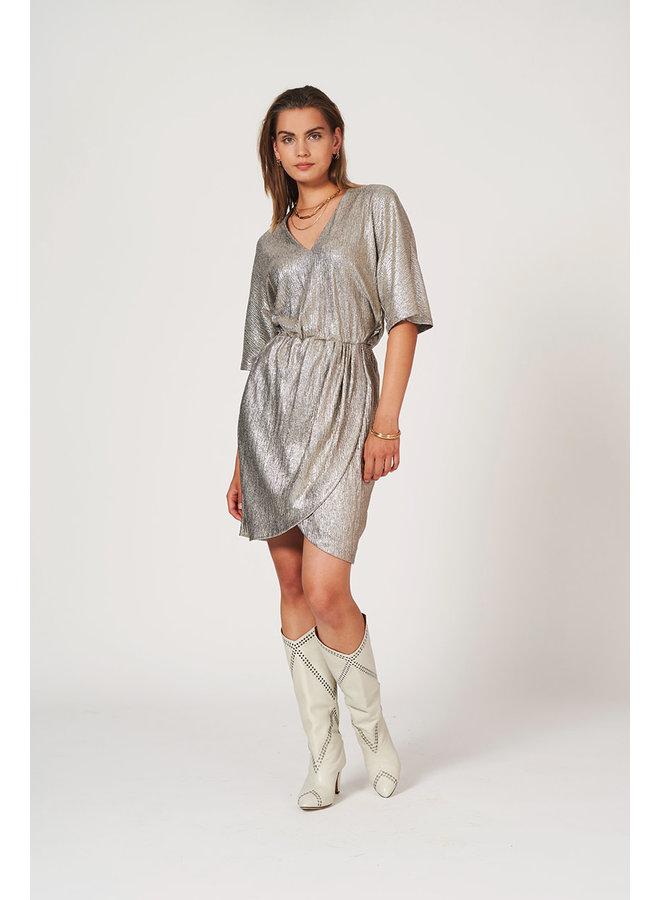 Dallas Metallic Jersey Dress