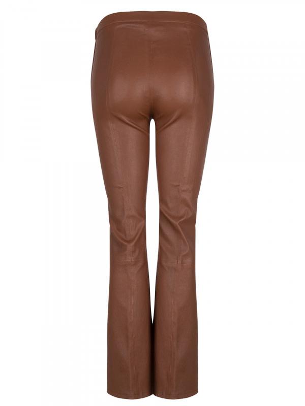 Tyson Crop Flare Leather Pants-2