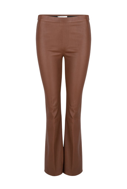Tyson Crop Flare Leather Pants