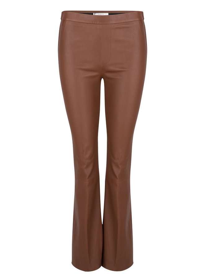 Tyson Crop Flare Leather Pants