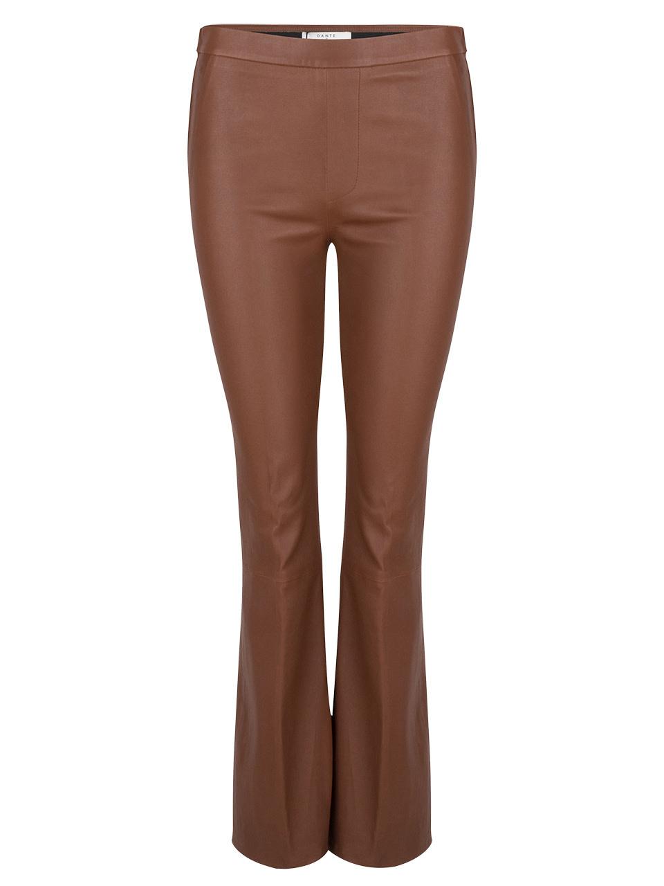 Tyson Crop Flare Leather Pants-1