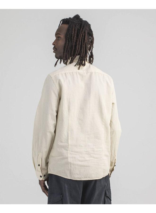 Robins Linnen Shirt Chalk