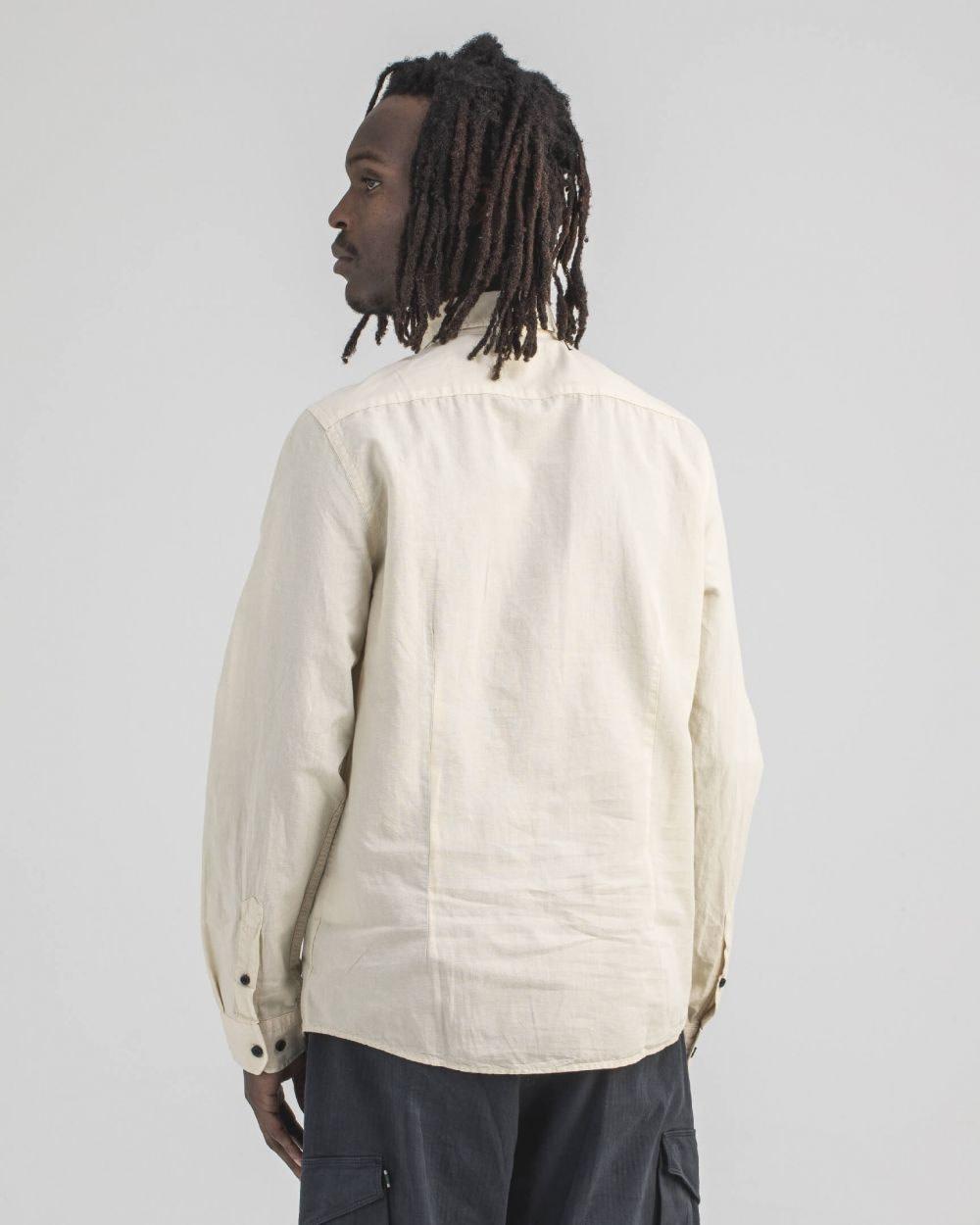 Robins Linnen Shirt Chalk-3