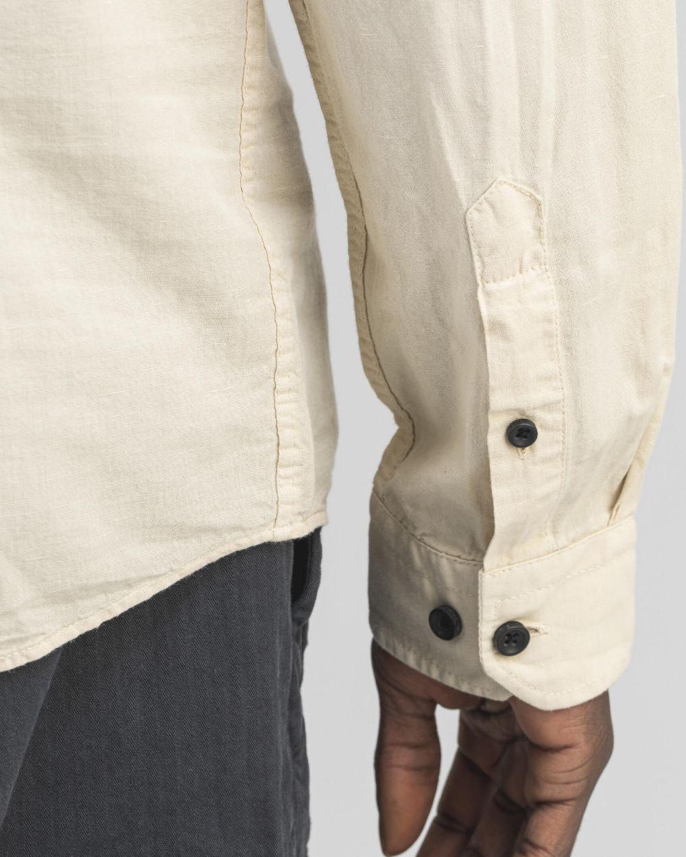 Robins Linnen Shirt Chalk-4