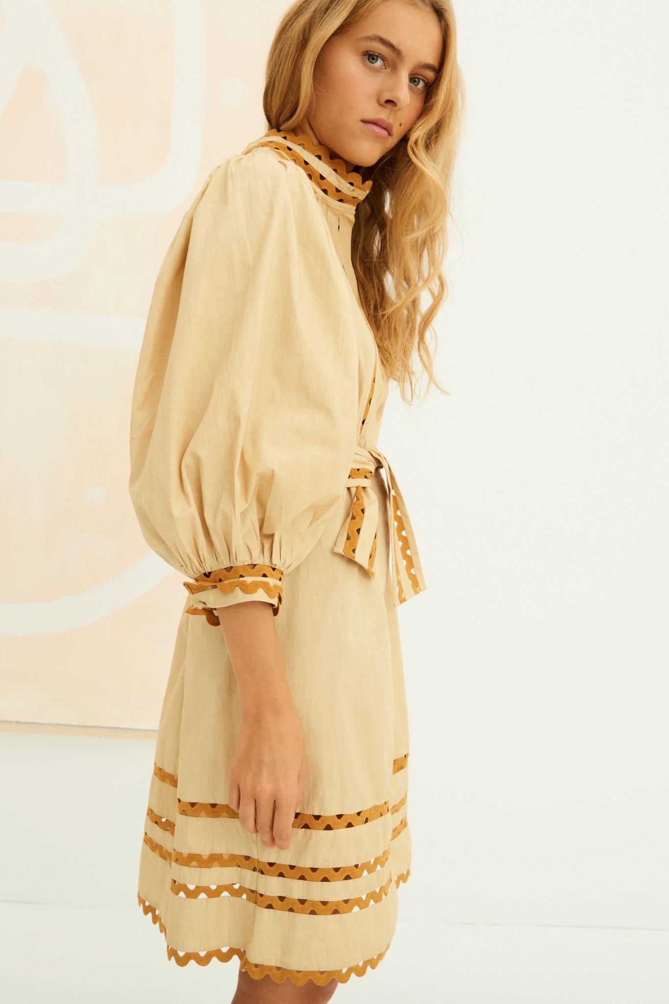 Mali Dress Beige-2