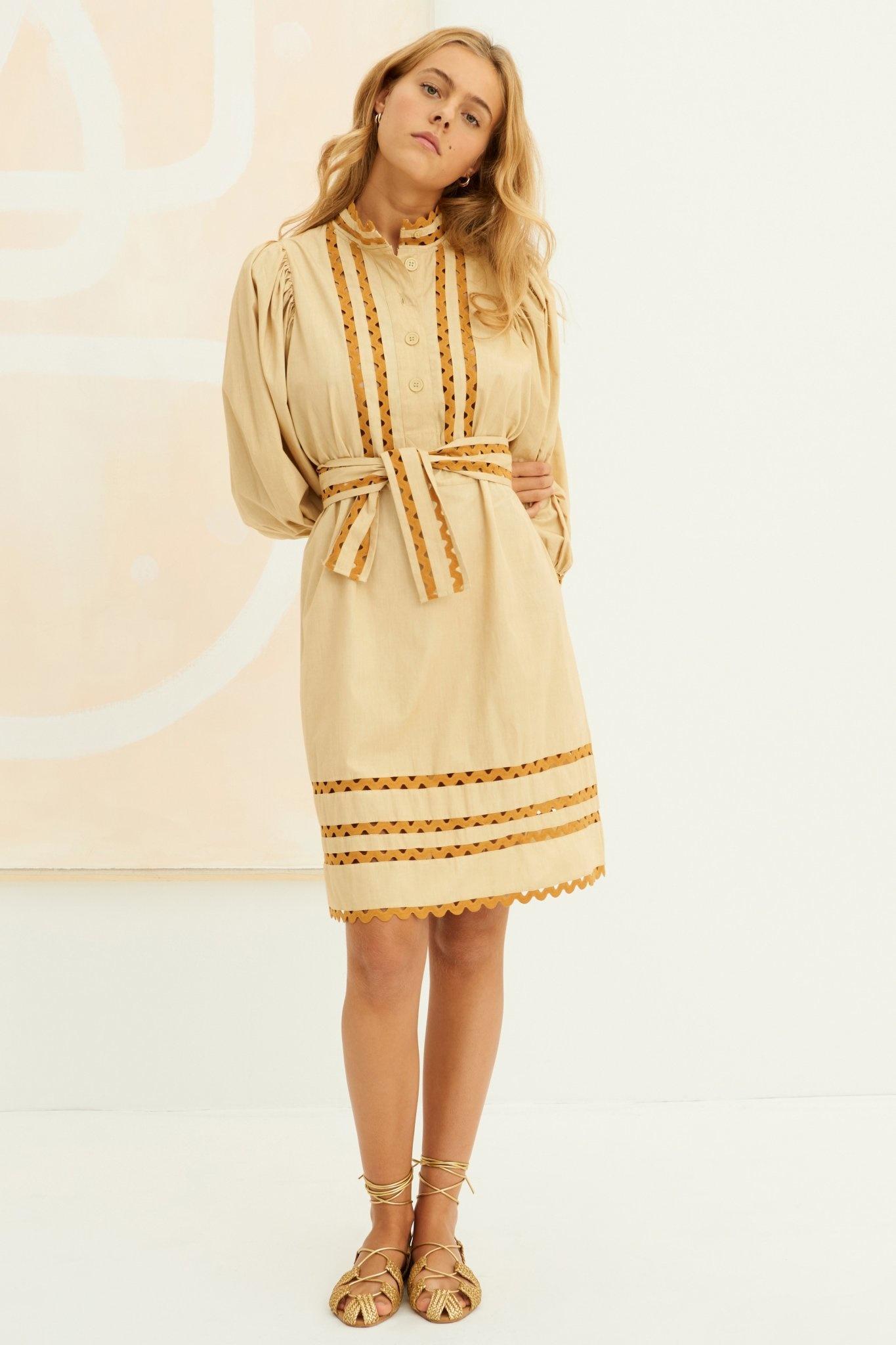 Mali Dress Beige-1