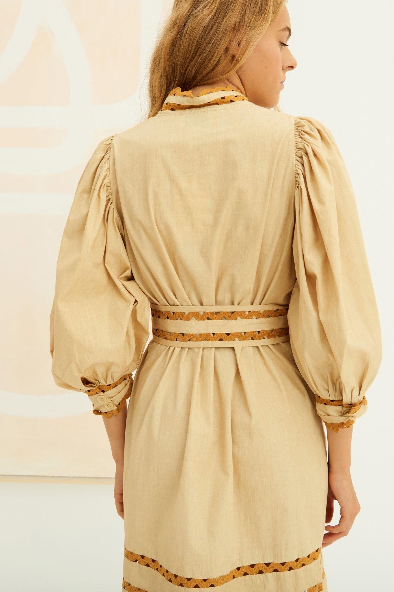 Mali Dress Beige-3