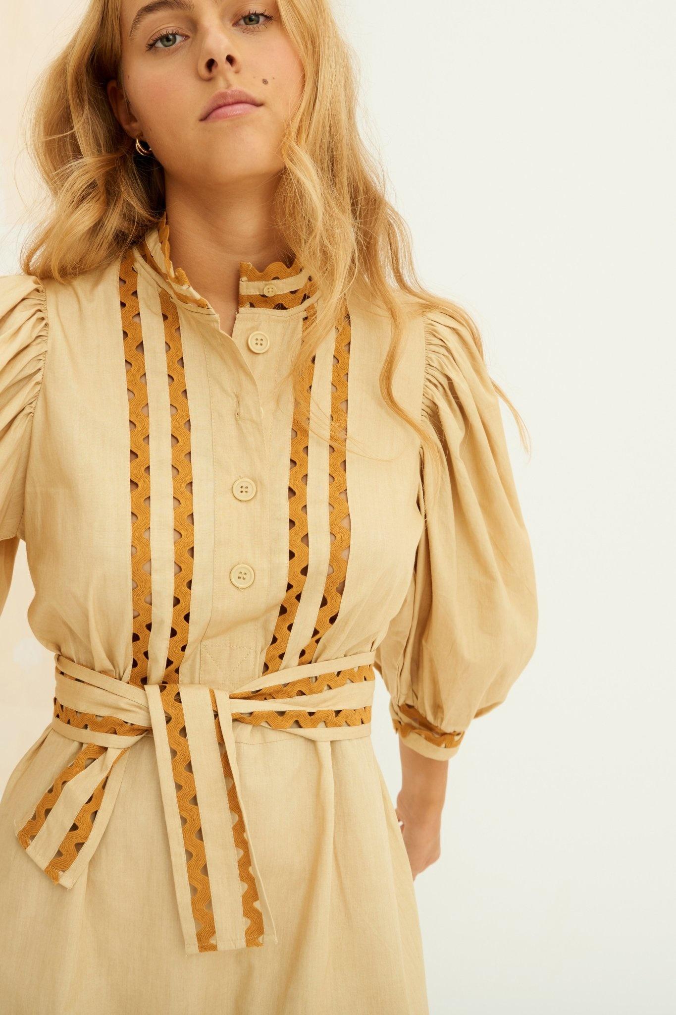 Mali Dress Beige-4