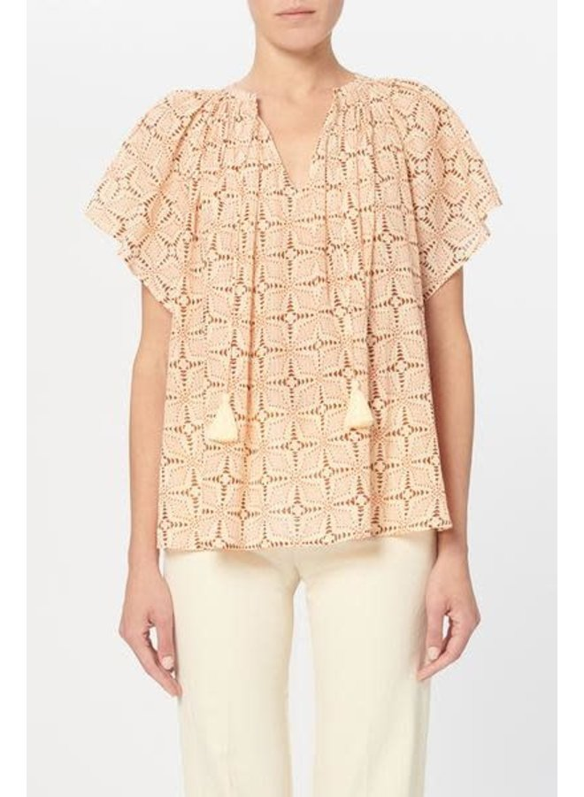 Lowell blouse geometric