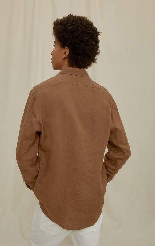 Ruben linnen shirt Brown 1200-2