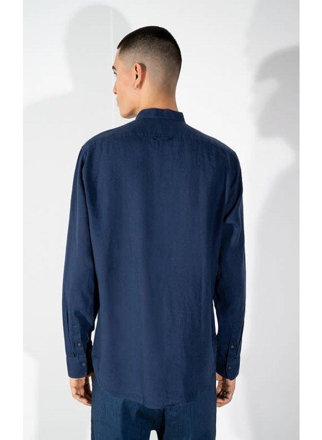 Tarok linnen shirt navy 3200