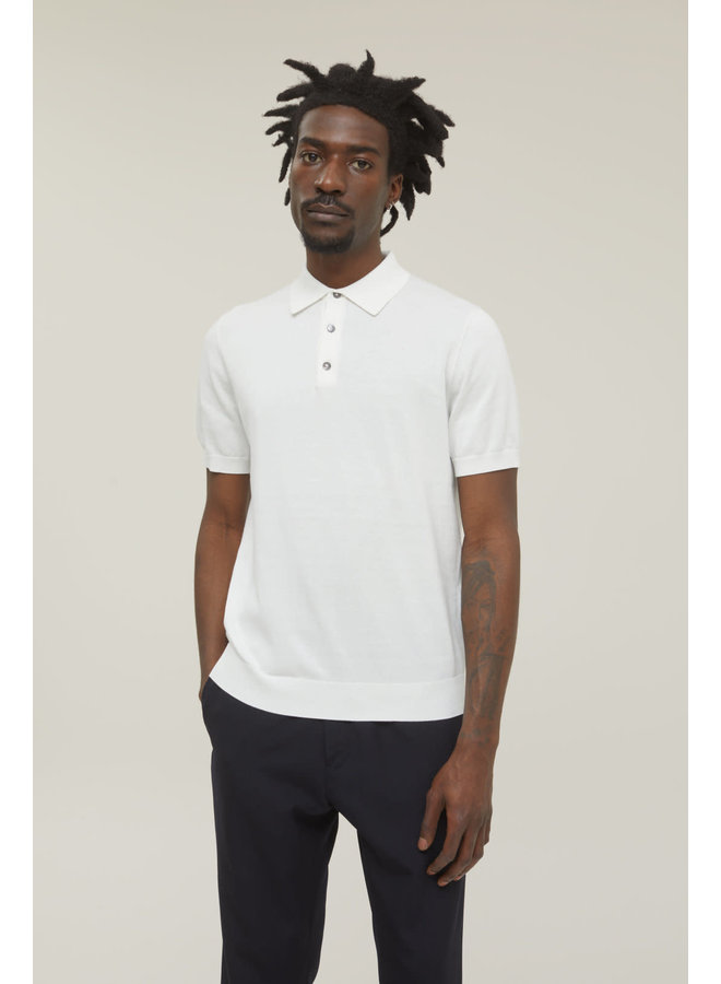 knitted Polo Ivory C86285