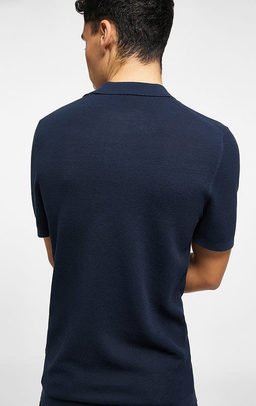 Triton knitted polo navy 3100-2