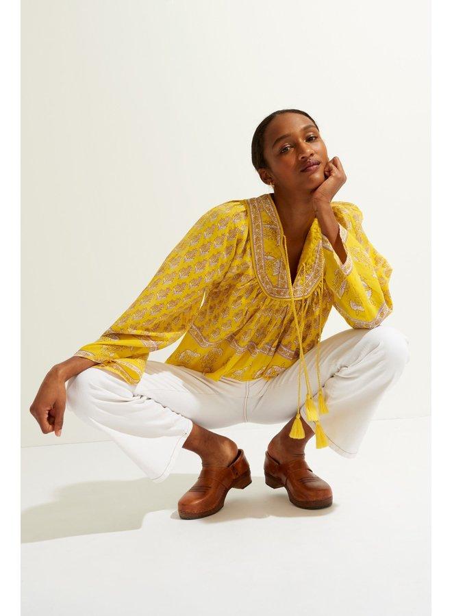 Mori Blouse Yellow