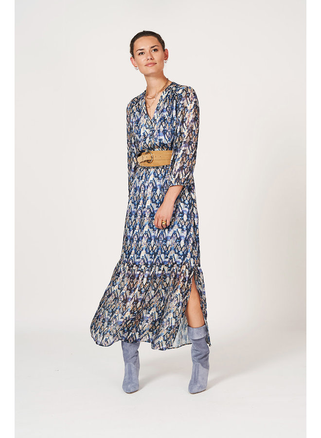 Bardon Aztec Print long dress