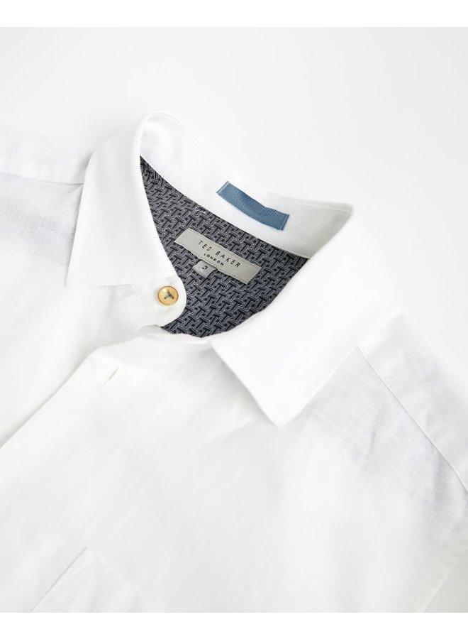 Sauss linnen shirt white