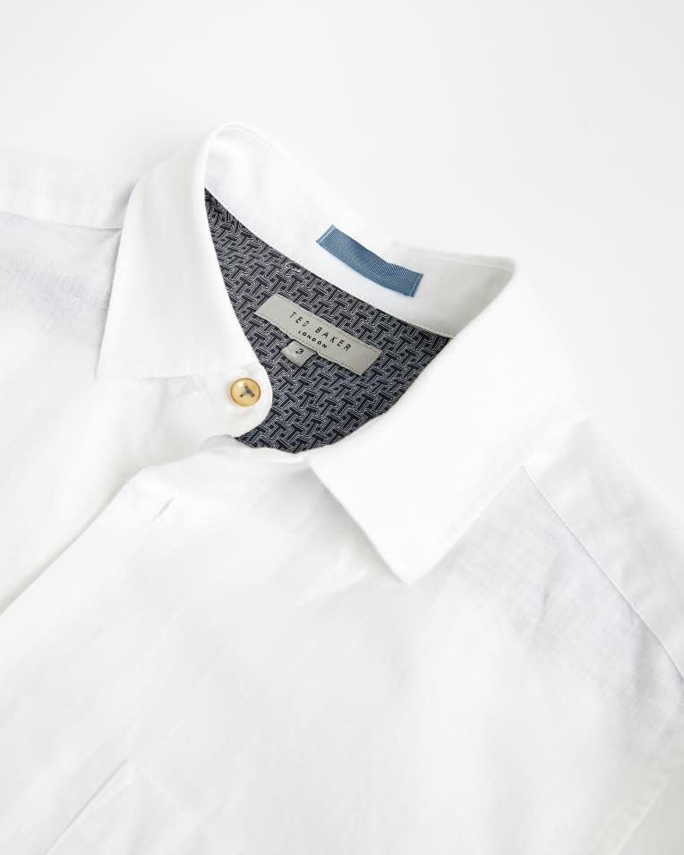 Sauss linnen shirt white-1