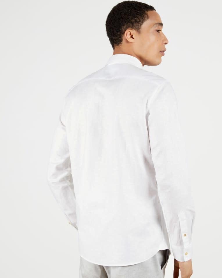 Sauss linnen shirt white-2