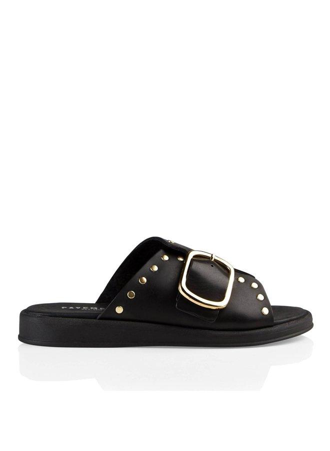 Angela  Black  slipper