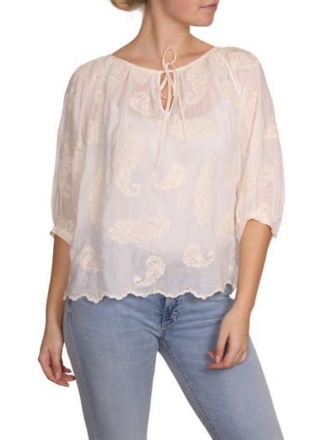 Lilliane blouse embroderie