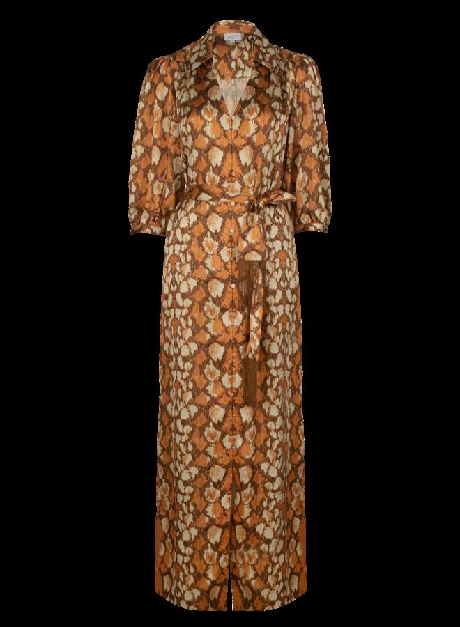 Badyn Snake Print long Dress