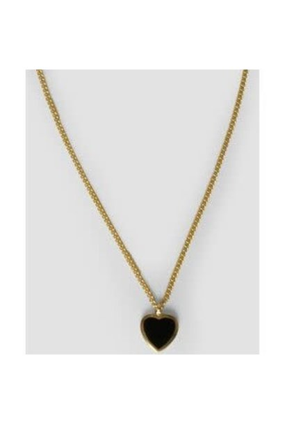 Amore black necklace
